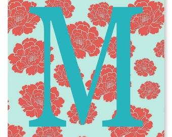 Monogram Nursery Art Print. Name Print, Baby Art Print, Baby Girl Nursery, Girl's Room Decor, Baby Shower Gift, Nursery Wall Art, Baby Room
