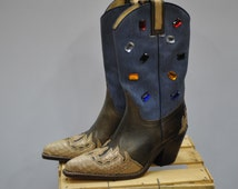 Popular Items For Cow Girl Boots On Etsy