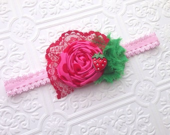 The Strawberry Hop Headband or Hair Clip