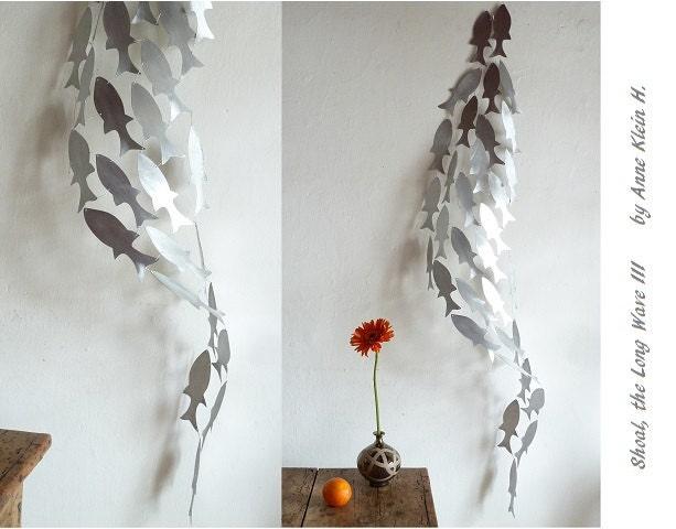 Metal Wall Sculpture Shoal Art