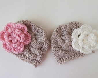 Baby  Twins  Hats - Newborn Twins -Knitted Hats for Twins - Newborn Baby Photo Prop - Newborn Baby Twins