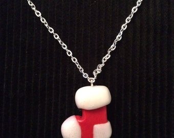 Christmas Santa Stocking Necklace