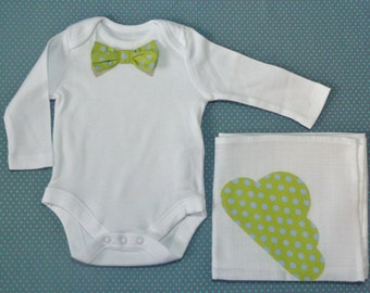 Snazzy Bow Tie Vest and Muslin Gift Pack