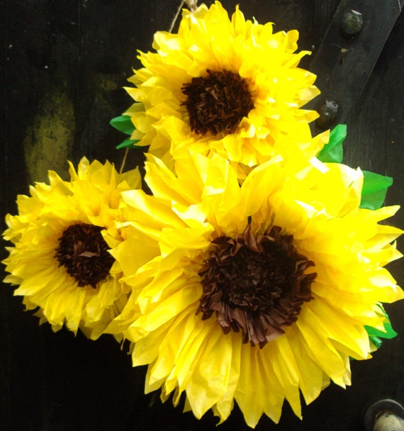 Set Of 3 Giant Sunflowers Perfect Decorations For Summer