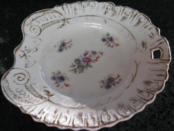 Vintage decorative plate vanity tray german for Decorative bathroom tray