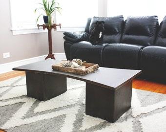 Modern Concrete Coffee Table - Hourglass
