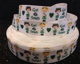 "Girl Scouts 7/8"" grosgrain ribbon 2 yard listing"