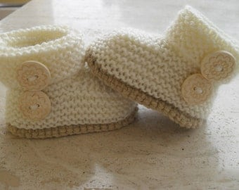 Instant Download Knitting Pattern Quick And Easy Baby Booties - Makes Three Sizes