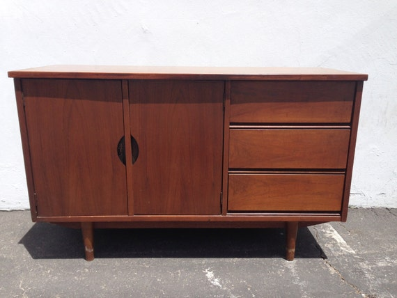 Mid Century Modern TV Media Console Cabinet Buffet Server