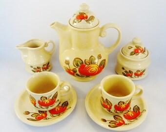 Tea Set Vintage - Complete Tea Set - Tea Ware - Retro Kitchenware - Kitsch Kitchen - Mid Century - Tea Sets for Adults