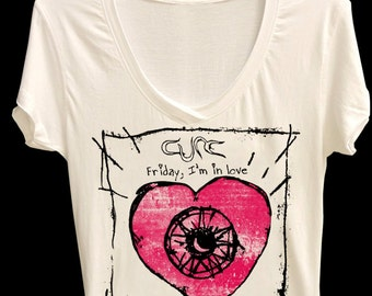 Mens / Women t shirt / Unisex t shirt (The Cure friday I'm  my love)