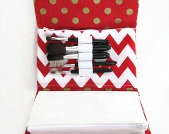 Makeup Bag Organizer | Costmetic Bag | Travel Makeup Organizer | Zipper Pouch | Winter woods | REISPEICES