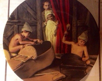 """Vintage Collectors Plate - Grimms Fairytales -  """" Shoemaker and the Elves """""""