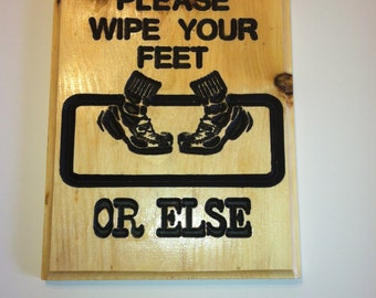 Popular Items For Wipe Your Feet On Etsy