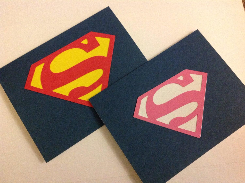 Superman Birthday Party invitations or Supergirl birthday – Superman Birthday Invitations