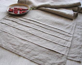 Linen table runner- wedding table serving favors- burlap- custom size- rustic - home decor