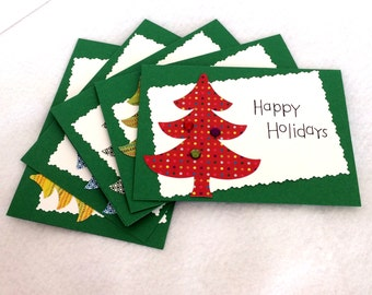 Bejeweled Holiday cards (blank, set of 5, with envelopes)