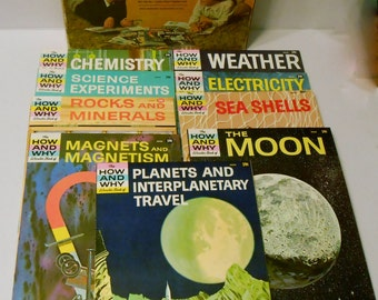How and Why Wonder Books gift set of 9 paperbacks How and Why books from the 60s era Grosset and Dunlap Inc.