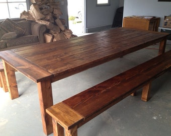 dining table farmhouse table large table reclaimed wood table kitchen table. Interior Design Ideas. Home Design Ideas