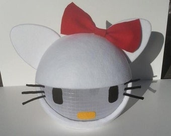 White kitty Mask! Home Made Kitty mask