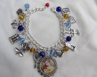 Childs Disney Beauty & the Beast Belle Charms Bracelet