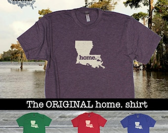 Louisiana Home. shirt- Men's/Unisex SOFT red green blue purple
