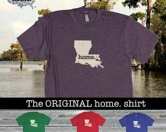 Louisiana Home. shirt- Men's/Unisex SOFT red green blue purple