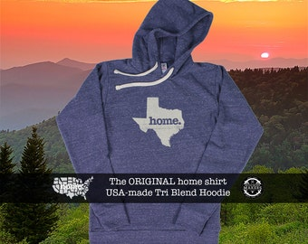 Tri Blend Pull Over Hoodie Texas Home Sweatshirt