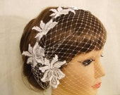 20% OFF.Birdcage veil,Blusher veil with flower aplique,French/Russian net  Bridal birdcage veil,mini side combs birdcage Veil,Hair accessory