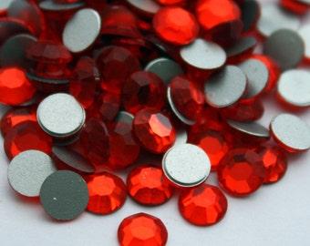 36 Swarovski 2000 Flatback Crystals - Hyacinth Crystals - 30 ss Swarovski Crystals - Orange Crystals