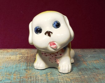 Vintage Ceramic Puppy Planter From Occupied Japan