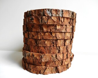 Items similar to rustic wood tree slice centerpiece base for Large tree trunk slices