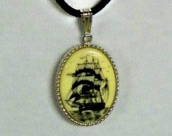 I Saw A Ship A Sailing Sarah Conventry 16 inch Pendant Necklace