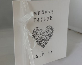 Personalised Wedding Card - Hand Stamped