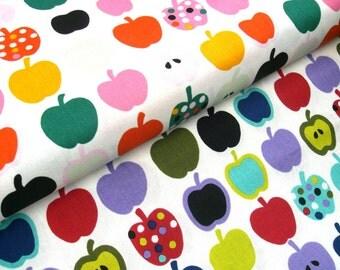 "0,5 m Printed cotton fabric ""Apples"" 115 cm br."