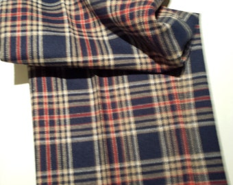 60s 70s Blue Plaid Rockabilly Indie ROcker Wool Pants