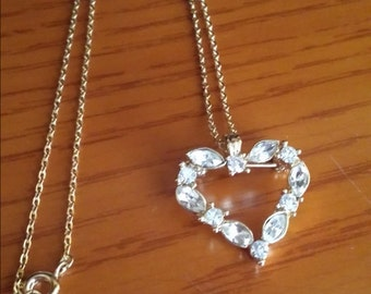 Heart pendant necklace/brooch