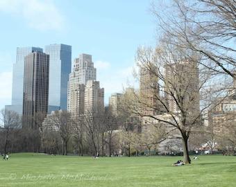 Central Park, New York Photography, 8x10 Fine Art Print, Sheep Meadow, Columbus Circle, Spring home decor