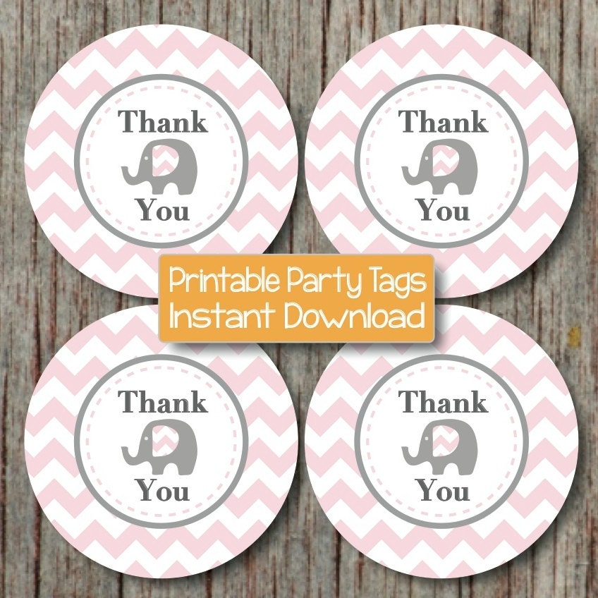 INSTANT DOWNLOAD Thank You Favor Tags Baby Shower Birthday