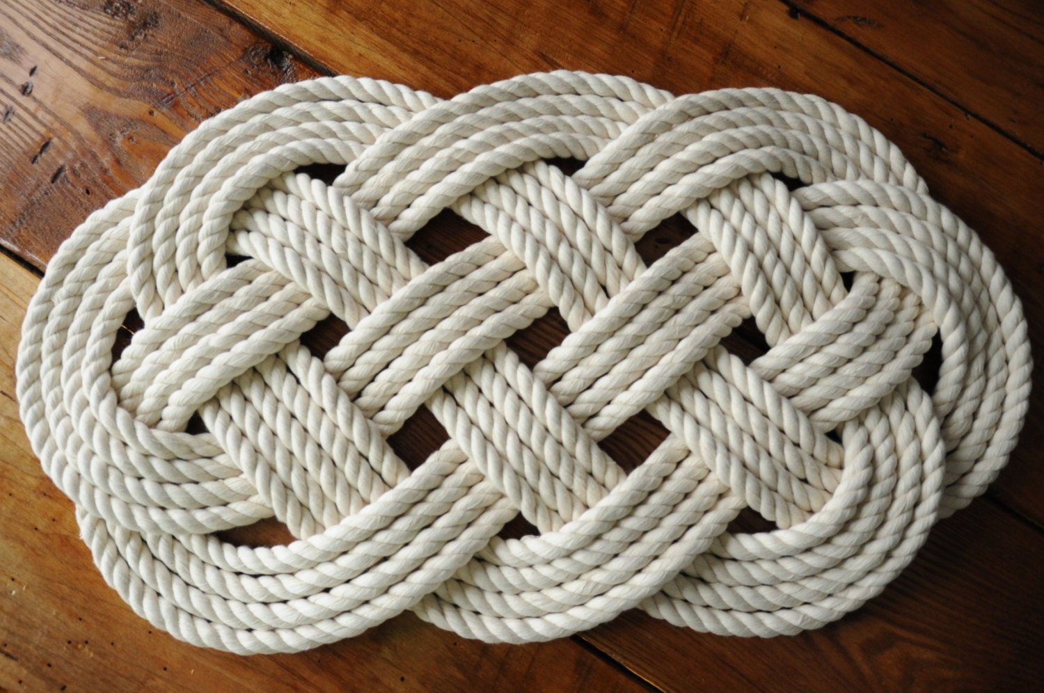 rope rug bath mat smaller cotton rope mat nautical decor