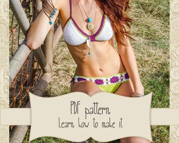 Knit Bikini Pattern : Pattern Brazilian bikini crochet and Knit Crochet Bikini
