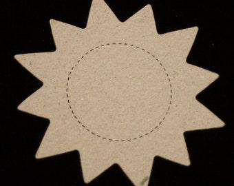 3 Sun Chipboard Die cuts