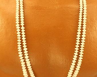 White Petrified Wood Necklace