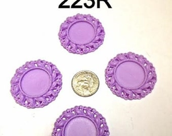 2/3/5 pc Purple Cameo Resin #223R Flat back Bottle cap for Bow center or pendant