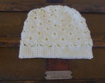 Crocheted Fan-Stitch Hat/Cap