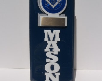 Masonic Wall Hanging with stand FREE engraving up to 50 characters