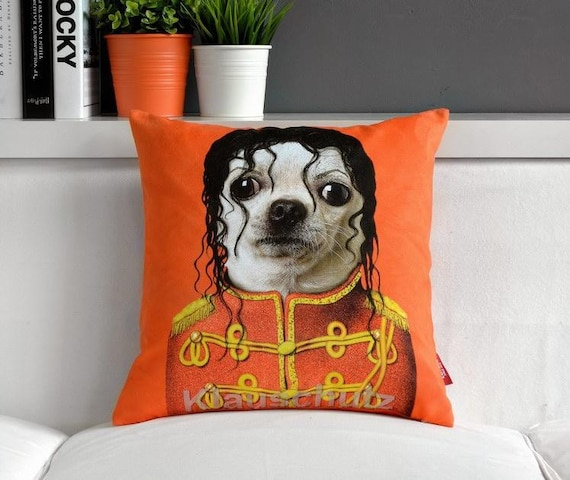 Chiwawa imitate Michael Jackson Throw Pillow Case