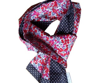 Scarf liberty wiltshire red and gray