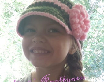 Crochet Child's Newsboy hat - You pick the colors.