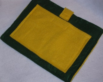 Felt Board to Go, great to have with felt sets - Dark Green and Yellow